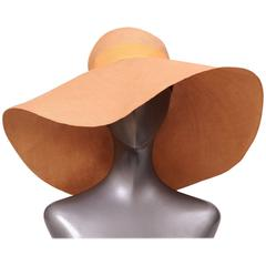 Adolfo Oversized Natural Straw Hat circa 1970