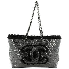Chanel Funny Tweed Tote Quilted Vinyl Small