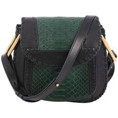 Chloe Hudson Handbag Python and Leather Small