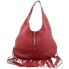 Gucci Model: Nouveau Fringe Jackie Hobo Leather