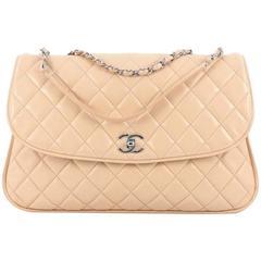 Chanel CC Flap Compartment Shoulder Bag Calfskin Medium