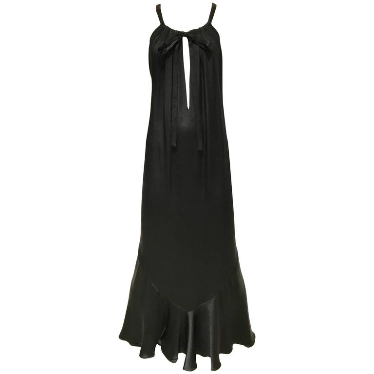 Vintage Yves saint laurent couture black silk dress