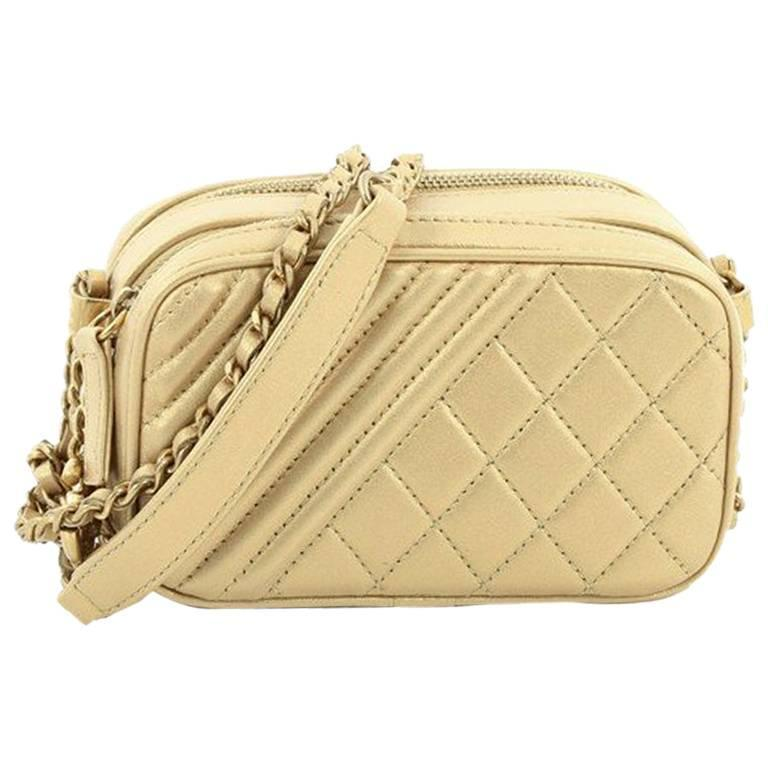 43647abd5a0c Chanel Coco Boy Camera Bag Quilted Leather Mini at 1stdibs