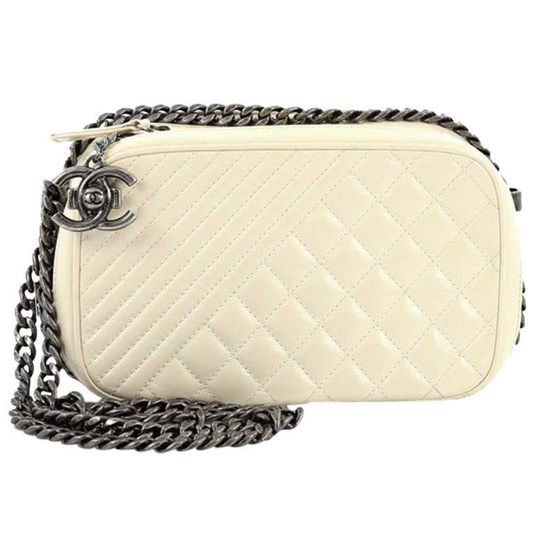 ad0d6cad9d5e Chanel Coco Boy Camera Bag Quilted Leather Small at 1stdibs