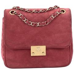 Chanel Pagoda Flap Suede and Lambskin Mini