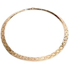 HERMES Kilim Necklace Yellow Gold 18K
