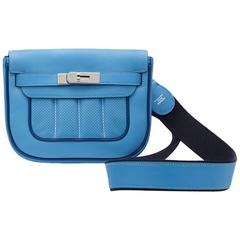 2014 Hermes Perforated Bleu Paradis Swift Leather & Blue Saphir Trim Berline 21