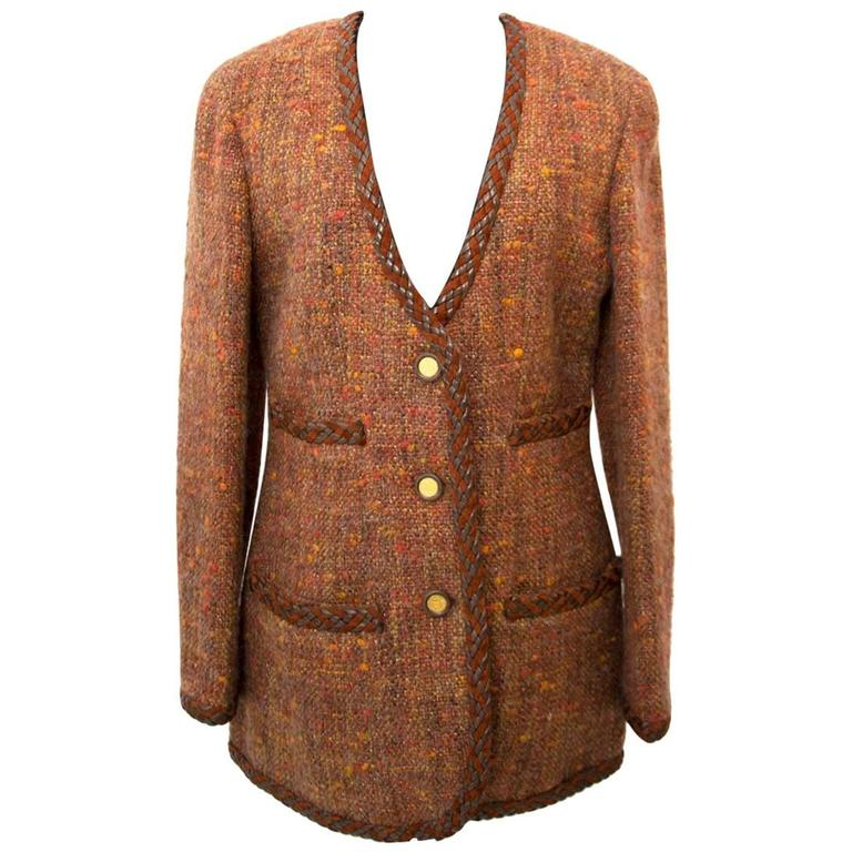 Chanel Autumn Wool Blazer - Size 40 1