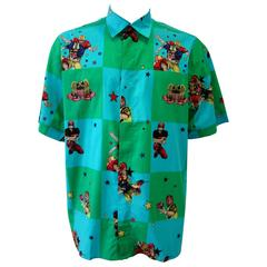 Gianni Versace Men's Printed Shirt 1990s