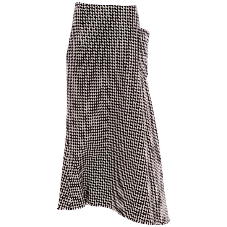 Yohji Yamamoto Wool Houndstooth Flared Skirt, Autumn - Winter 2003