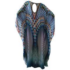 Contemporary Silk Printed Caftan Dress From Laleh Fayaz