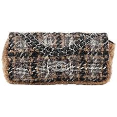 Chanel CC Chain Flap Tweed with Shearling East West