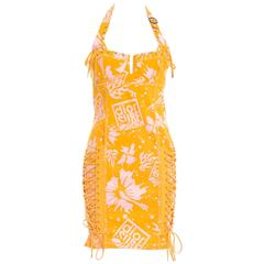 "Christian Dior by John Galliano Corset Lace ""Dior Surf Chick"" Mini Dress"