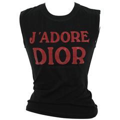 "Christian Dior by John Galliano ""J'Adore Dior"" Tank Top T-Shirt"