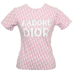 Christian Dior by John Galliano Pink Trotter Logo Shirt