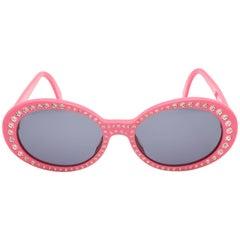 Pink Vintage Chanel Rhinestone Sunglasses