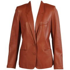 Martin Margiela for Hermes Caramel Lambskin Leather Blazer
