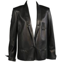 Martin Margiela for Hermes Black Lambskin Jacket circa 2000