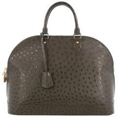 Louis Vuitton Alma Handbag Ostrich GM