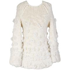 Jean Paul Gaultier Wool Sweater with Fur Accents circa 1990s