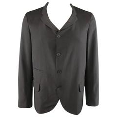 COMME des GARCONS Fall 2012 L Black Wool 4 Button Floral Jacket