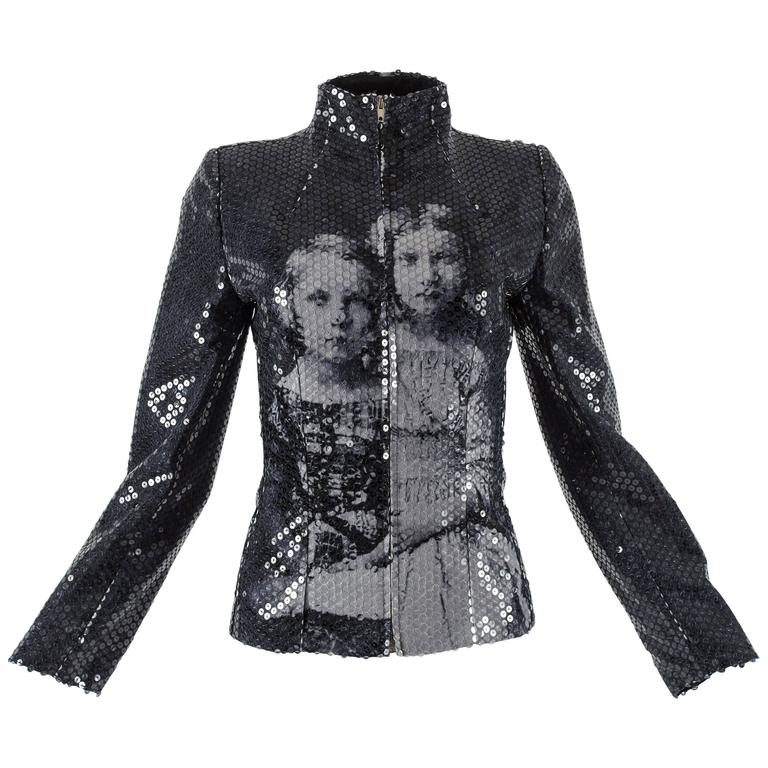 Alexander McQueen Autumn-Winter 1998 'Joan' Romanov Princess sequin jacket