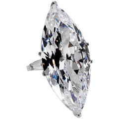 The Jackie O Faux CZ Lesotho 40 Carat Marquise D Color Diamond Ring Copy