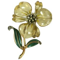 Wonderful Art Deco Lucite Lily Brooch