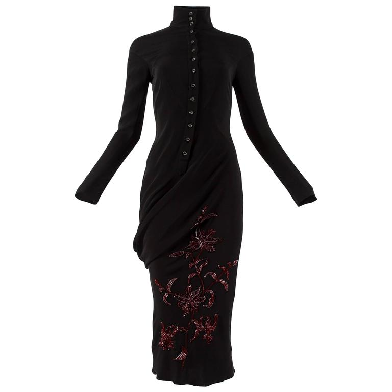 Alexander McQueen Autumn-Winter 1998 'Joan' beaded evening dress For Sale