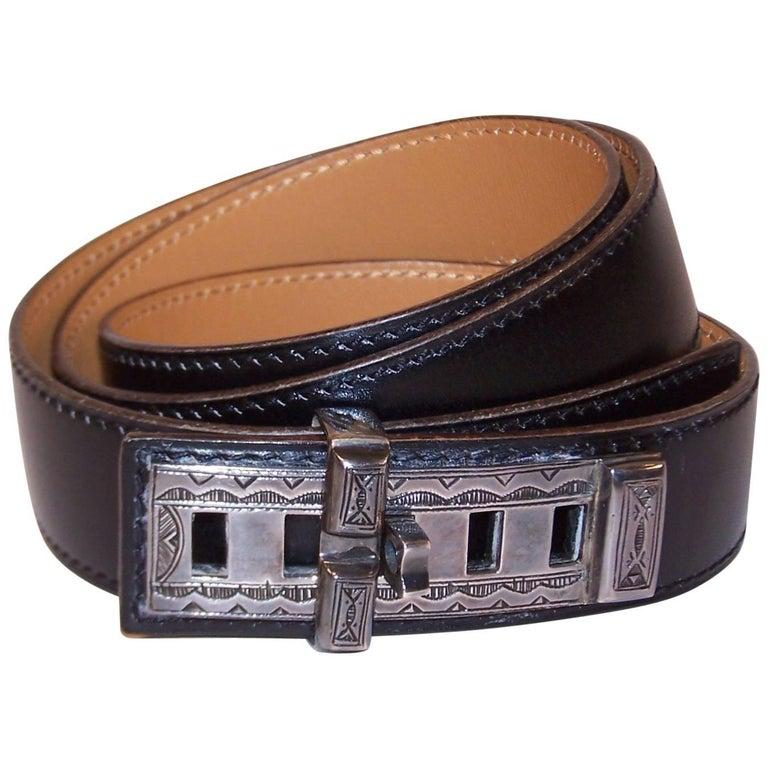 2001 Hermes Sterling Silver Touareg Collier De Chien Belt