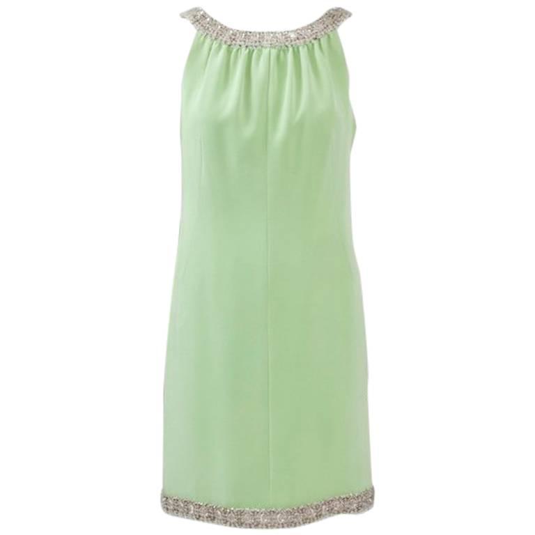 1960's Haute Couture Silk Cocktail Dress