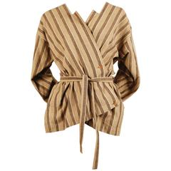 early 1980's ISSEY MIYAKE striped cotton jacket