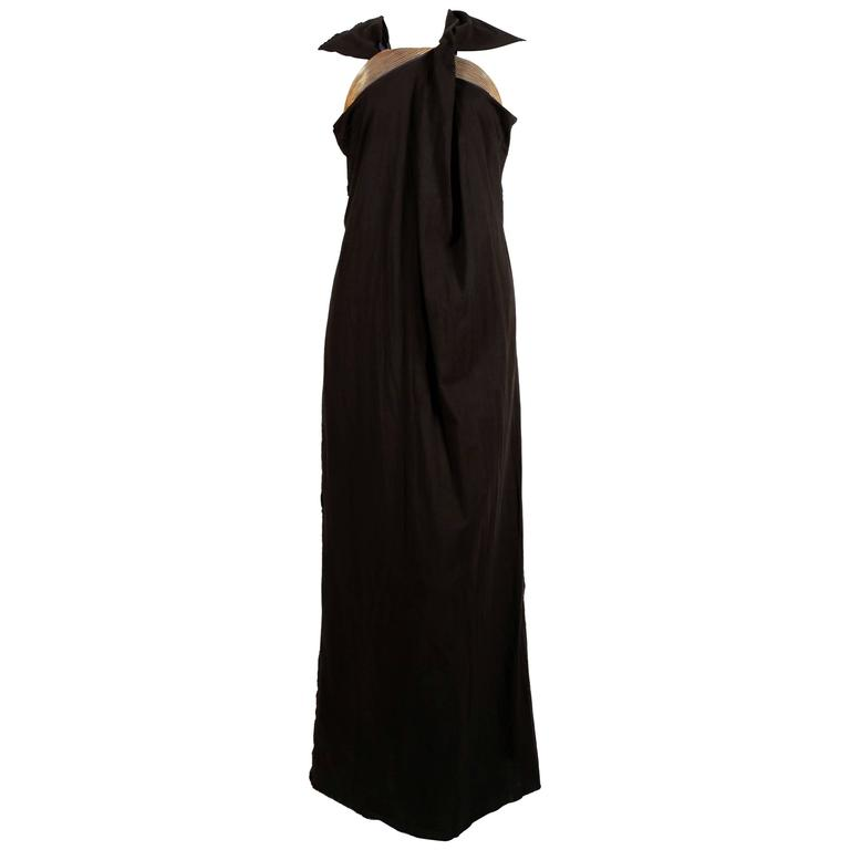 2005 JUNYA WATANABE black runway dress with layered 'zipper' trim