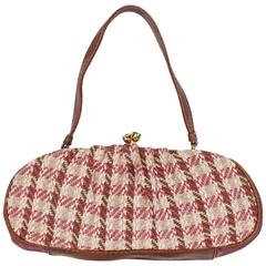Christian Lacroix Vintage Tweed and Tartan Handbag