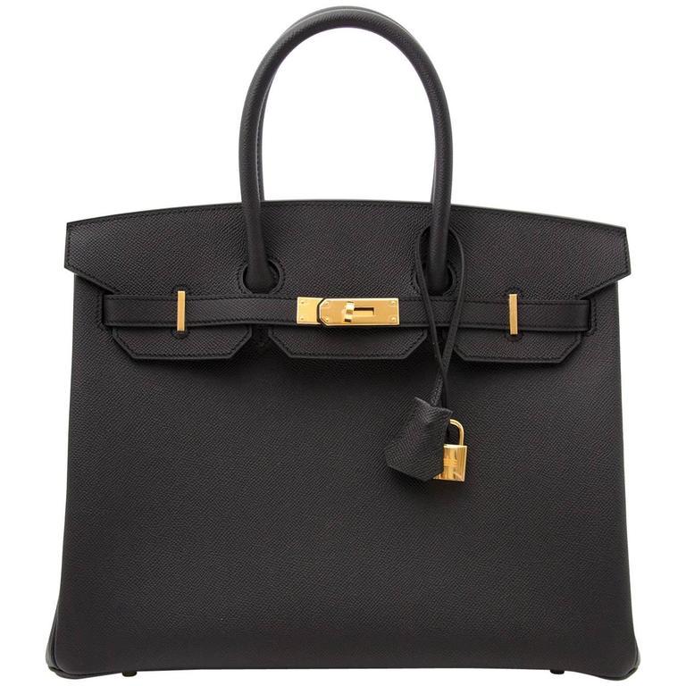 Hermes Birkin 35 Epsom Noir GHW