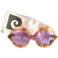 New Vintage Pierre Cardin Kiss Tortoise Rose Lenses Medium C18 1960's Sunglasses