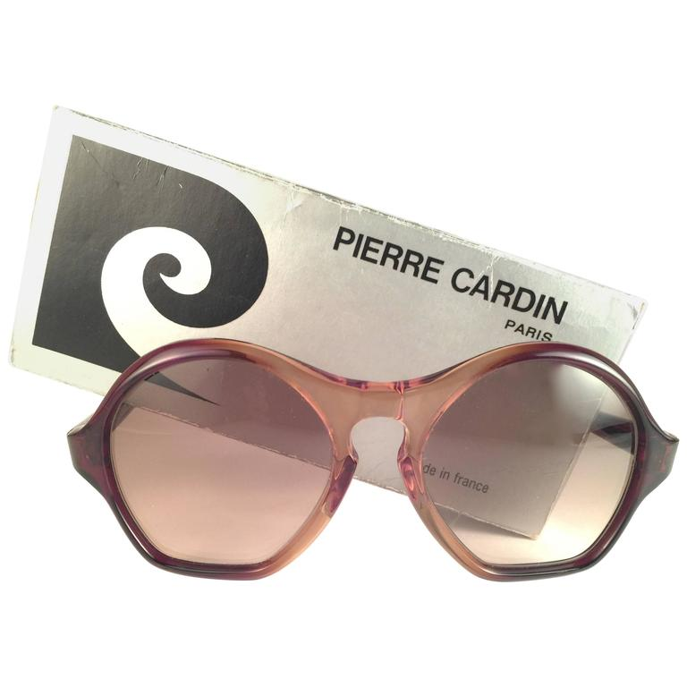 "New Vintage Pierre Cardin "" Laure "" Two Tone Brown Lens 1960's Sunglasses"