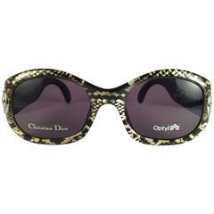 New Vintage Christian Dior 2958 Snake Print 1990's Optyl Sunglasses Austria
