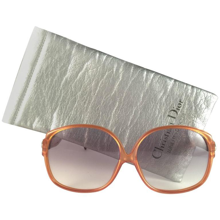 New Vintage Christian Dior 2098 40 Oversized Amber Optyl Sunglasses Germany