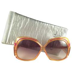 New Vintage Christian Dior 2044 30 Oversized Amber Optyl Sunglasses Germany