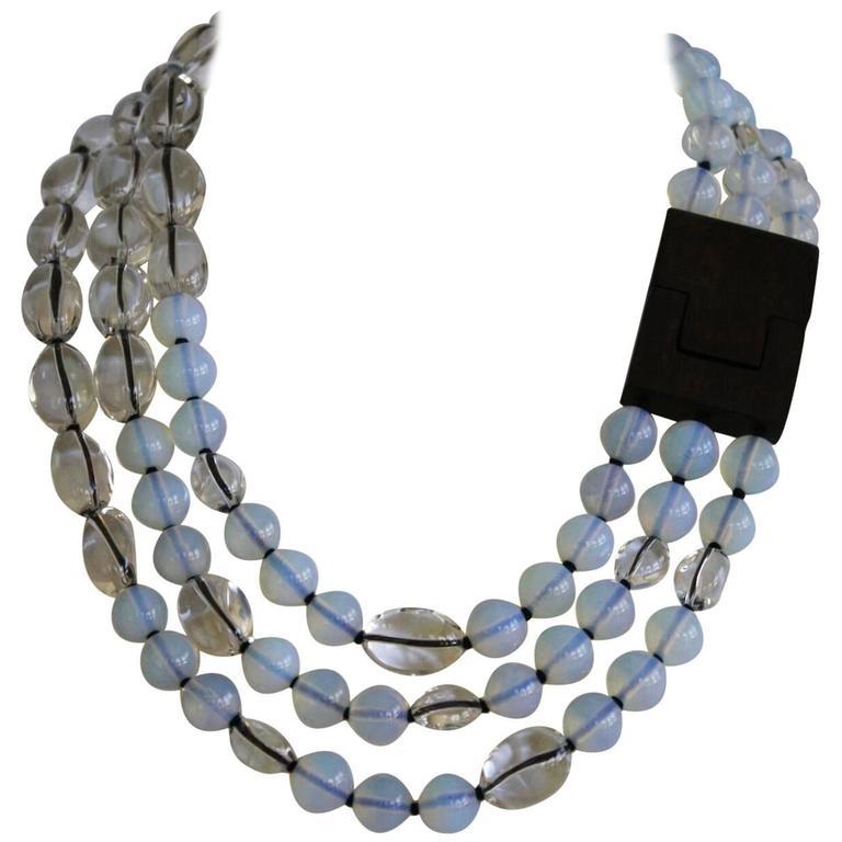 Patricia Von Musulin Opaline and Rock Crystal Necklace 1