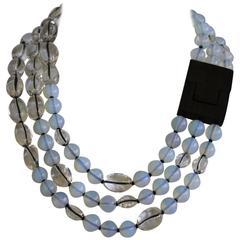 Patricia Von Musulin Opaline and Rock Crystal Necklace