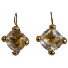 Goossens Paris Rock Crystal Drop Earrings