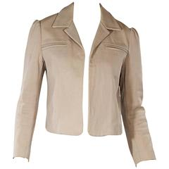 Tan Marni Open-Front Jacket