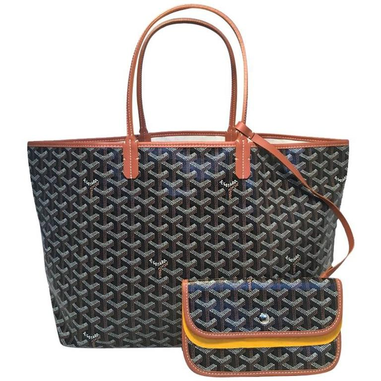 Goyard St Louis PM Tote in Black and Brown 1