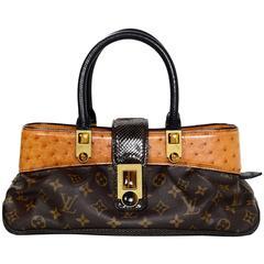 Louis Vuitton Ltd. Ed. Monogram & Ostrich Macha Waltz Bag rt. $3,700