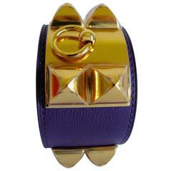 Hermes CDC Collier De Chien Ultra Violet Gold Hdwe