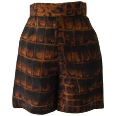 Gianni Versace Couture Silk Organza Printed Shorts Spring 1992