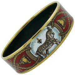 Hermes Vintage Grand Apparat Wide Enamel Bracelet