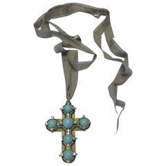 Lanvin Cross Necklace